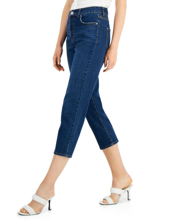 INC International Concepts INC High Rise Cropped Straight-Leg Jeans, Created for Macy's & Reviews - Jeans - Women - Macy's