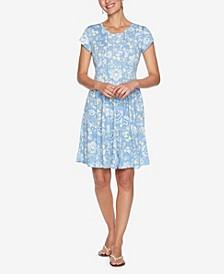 Plus Size DRS Dot Persian Puff Dress