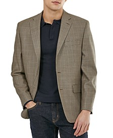 Men's Classic-Fit Ultraflex Silk & Wool Blazer