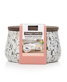 CLOSEOUT! Large Outdoor Candle Ocean Hibiscus