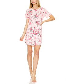 Averie Floral-Print Sleep Shirt Nightgown