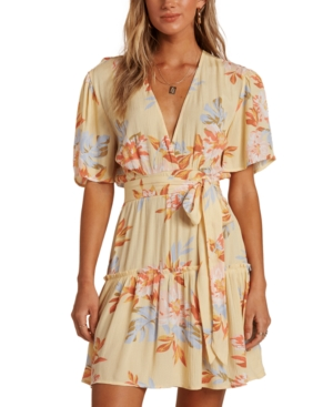 Billabong Dresses JUNIORS' ONE AND ONLY BELTED MINI DRESS