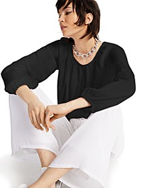 INC Gathered Peasant Top, Created for Macy's
