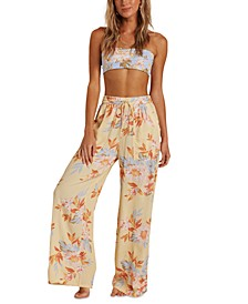 Juniors' Wandering Heart Wide-Leg Pants