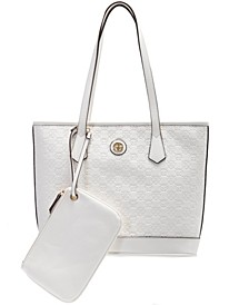 Debossed Signature Tote with Wristlet, Created for Macy's