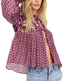 Malia Embellished Printed Babydoll Jacket