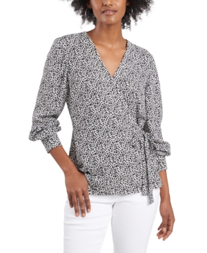 Vince Camuto DITSY FLORAL SIDE-TIE TOP