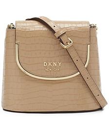 Faith Flap Leather Bucket Bag