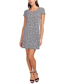 Printed Cap-Sleeve Swing Dress
