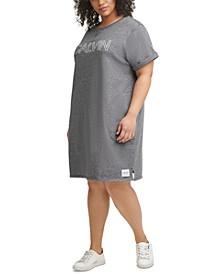 Plus Size Crewneck Logo Dress