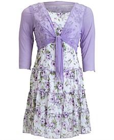 Floral-Print 2-Pc. Chiffon Jacket and Dress