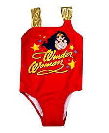 Wonder Woman Toddler Girls 1 Piece Swimsuit