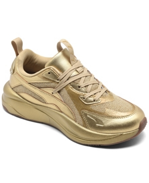 Puma Leathers WOMEN'S RS-CURVE CASUAL SNEAKERS FROM FINISH LINE