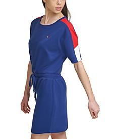 Drawstring-Waist T-Shirt Dress