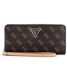 Noelle Large Logo Zip Around Wallet Wristlet