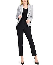 Petite Crossdye Single-Button Pantsuit