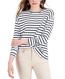 Striped Classic Crew Sweatshirt, Created for Macy's