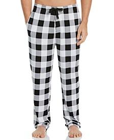 Men's Buffalo Plaid Knit Pajama Pants