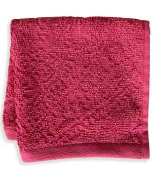 """Mainstream International Inc. Florence Cotton Velour 12"""" X 12"""" Wash Towel Bedding In Red"""