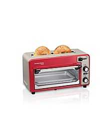 Toastation 2 Slice Toaster and Countertop Toaster Oven