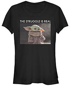 Juniors Star Wars Mandalorian Baby Yoda Meme Racerback Tank Top