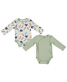 Baby Boys Asymmetrical Safari Print 2 Pack Bodysuits