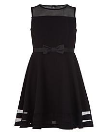 Little Girls Illusion Mesh Dress