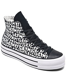 Women's Chuck Taylor All Star My Story Platform High Top Casual Sneakers from Finish Line