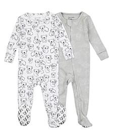 Baby Boys or Girls Koala Footed Pajama, 2 Pack