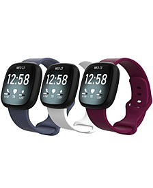 Men's and Women's Resin 3 Pack for Fitbit Sense Versa 3 38mm