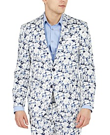 Men's Slim-Fit Floral Suit Separate Jacket, Created for Macy's
