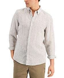 Men's Slim-Fit Seersucker Long Sleeve Shirt