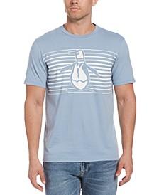 Men's Pete Engineered Stripe Logo Graphic T-Shirt