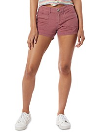 Juniors' Delaney Stretch Twill Shorts