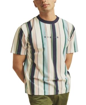 Guess T-shirts MEN'S ORIGINALS VERTICAL STRIPE T-SHIRT