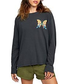 Juniors' Swallowtail Long-Sleeve T-Shirt