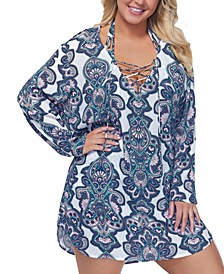 Trendy Plus Size Golden Hour Alba Hoodie Cover-Up