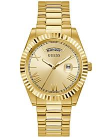 Men's Gold-Tone Stainless Steel Bracelet Watch 42mm