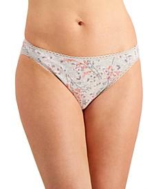 Women's Pretty Cotton Cherry-Blossom-Print Bikini Underwear, Created for Macy's