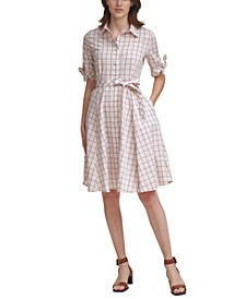 Plaid Belted Fit & Flare Dress