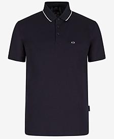 Men's Mercerized Jacquard Back Logo Polo Shirt