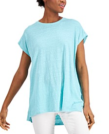 High-Low Linen Tunic
