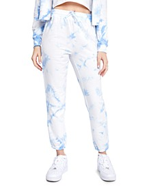 Juniors' Playa Tie-Dyed Jogger Pants