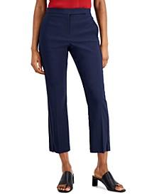 Cropped Slit-Hem Straight-Leg Pants, Created for Macy's