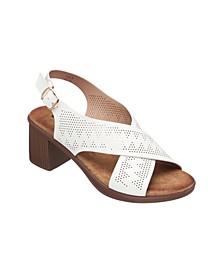 Women's Lala Cross Strap Heeled Sandal
