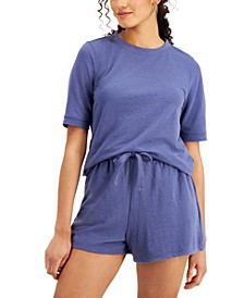 Lightweight French Terry Short-Sleeve Sweatshirt, Created for Macy's