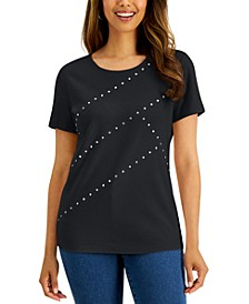 Cotton Studded Top, Created for Macy's
