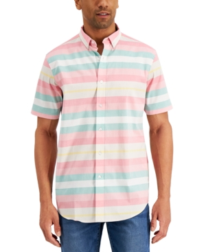 Men's Striped Short Sleeve Shirt