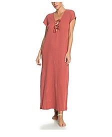 Juniors' Summer Pink Wave Beach Dress