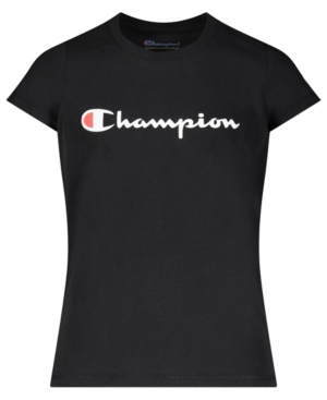 Champion BIG GIRLS CLASSIC SCRIPT SHORT SLEEVE GRAPHIC T-SHIRT